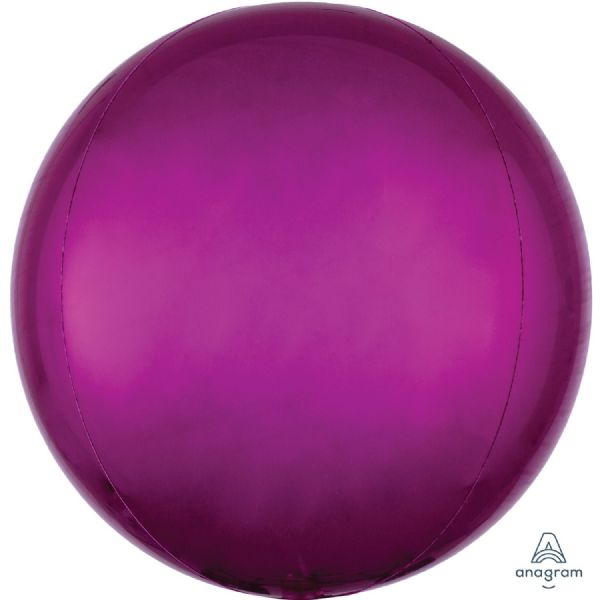 Bright Pink Round Orbz 15in Balloon